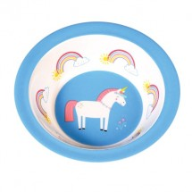 Bol de melamina unicornio