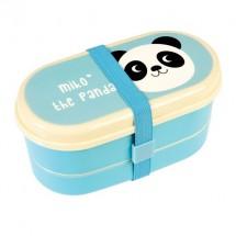 Recipiente con cubiertos Miko el panda