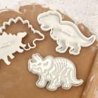 Set de cortadores y marcadores dinosaurios
