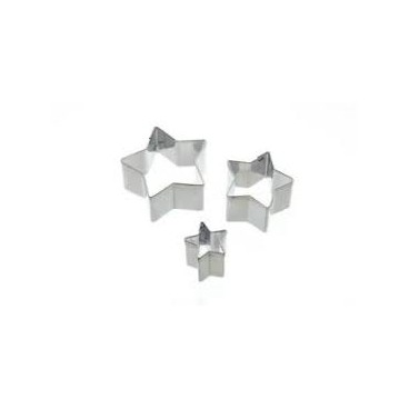 Set de 3 mini cortadores estrella