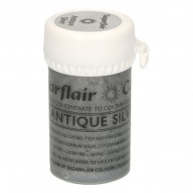 Sugarflair. Colorante en pasta Antique Silver