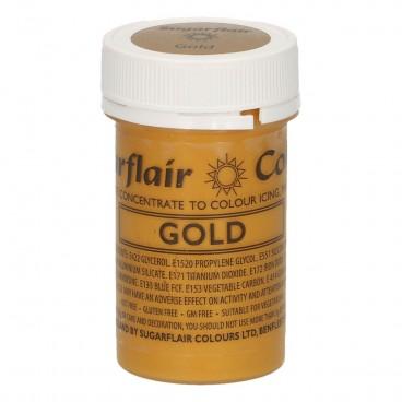 Sugarflair. Colorante en pasta Satin Gold
