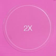 Set de 2 Discos acrílicos 19 cm.