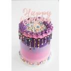 28/09 Drip cake con degradado y explosión de sprinkles: ¡te llevas tu tarta!