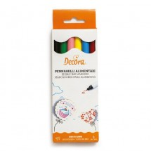 Set de 6 rotuladores tinta comestible Decora