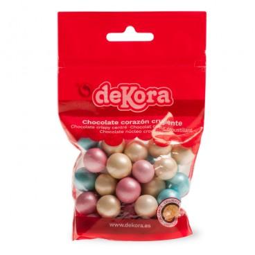 Bolitas Crispi chocolate colores perlados