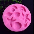Molde de silicona con forma de conchas 2