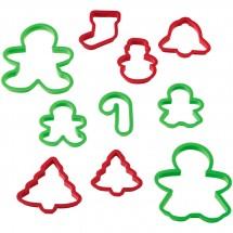 Set de cortadores de plástico Navidad