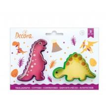 Kit 2 cortadores dinosaurios