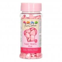 Corazones de azúcar Rosa Funcakes